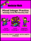 TEK 6.3D Rockstar Math (Technology Activity) - Mixed Integ