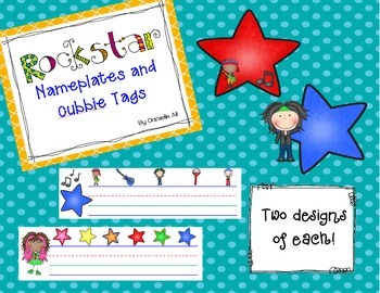 Rockstar Name Plates and Cubbie Tags