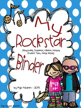 Rockstar Organizational Binder Set and Rockstar of the Week Packet!!