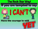 Rockstar Power of Yet Poster (growth mindset)