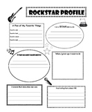All about Me Rockstar Profile Poster (back to school)