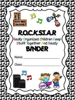 Rockstar {Rock n Roll} Binder Cover