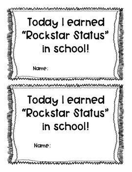 Behavior Management Rockstar Status