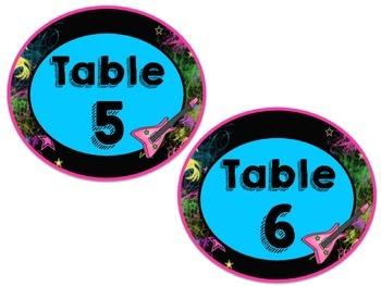 Rockstar Table Numbers