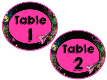 Rockstar Table Numbers