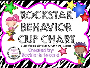 Rockstar Theme Behavior Clip Chart and Certificates