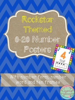 Rockstar Themed 0-20 Numbers Posters