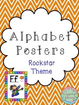 Rockstar Themed Alphabet Posters