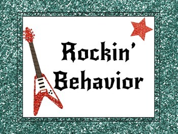 Rockstar Themed Behavior Chart