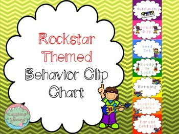 Rockstar Themed Behavior Clip Chart