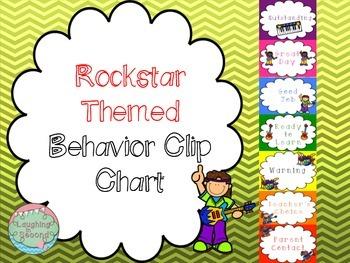 Rockstar Themed Behavior Clip Chart