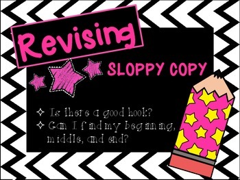 Rockstar Themed Writing Process Posters