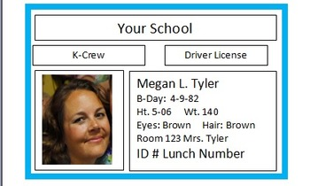 Rock Star classroom Driver's License Template