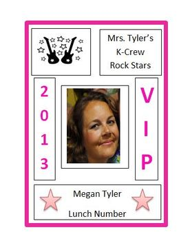 Rock Star classroom name badges/tags
