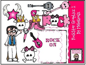 Rockstar clip art 1 - by Melonheadz