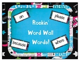 Rockstar or rock and roll themed word wall cards using the Dolch word list
