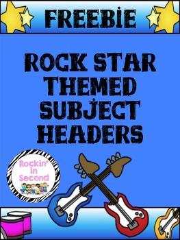 Rockstar theme subject headers freebie