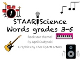 Rockstar theme- word wall words (Science 3-5)