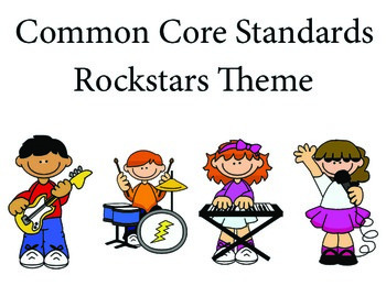 Rockstars 3rd grade English Common core standards posters
