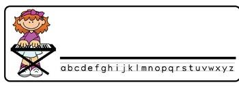 Rockstars Theme Desk Nameplates (Set of Four)