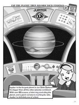 Rockwell Adventures: Solar System Expedition - Jupiter Worksheet (Metric 6-8)