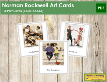Rockwell (Norman) 3-Part Art Cards - Color Borders