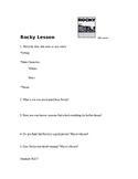 Rocky 1 Film Assessment