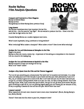 Rocky Balboa Film Analysis Viewing Guide