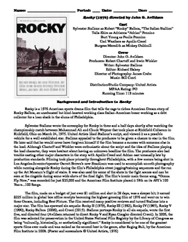 Rocky Film (1976) Study Guide Movie Packet