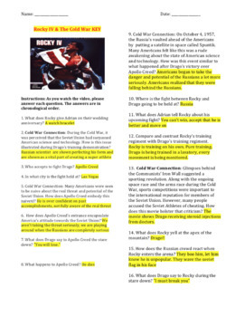 Rocky IV - A Cold War Study Activity & Complete Movie Guide