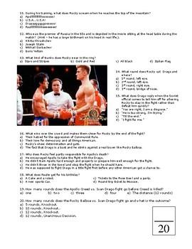 Rocky IV Quiz