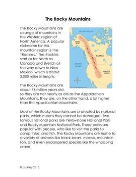 Rocky Mountain Interactive Notebook