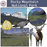 Rocky Mountain National Park Clip Art Set