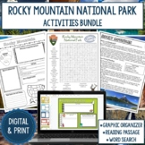 Rocky Mountain National Park Graphic Organizer and Word Search Bundle