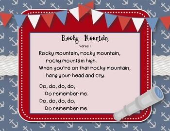 Rocky Mountain - Nautical Folk Song with Rhythmic Accompaniment