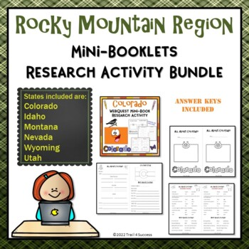 Rocky Mountain Region Bundle of 6 State Webquest Mini Book Research Activities