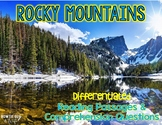 Rocky Mountains Differentiated Nonfiction Reading Passages