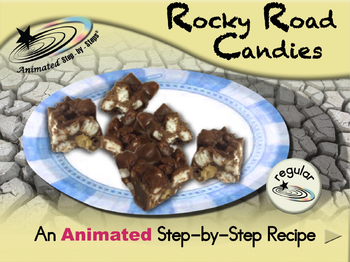 Rocky Road Candies - Animated Step-by-Step Recipe - Regular
