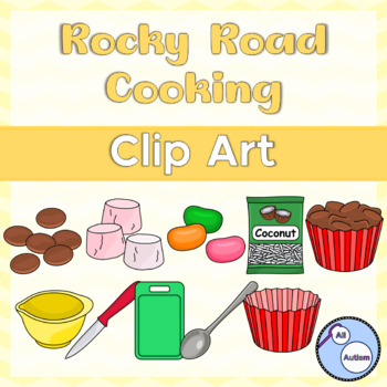 Rocky road cooking clipart
