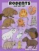 Rodents Clip Art Set
