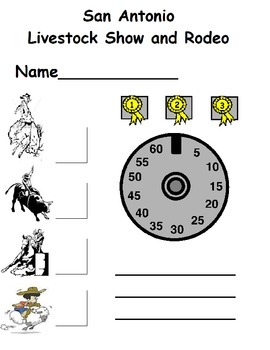 Rodeo Clip Board/Western Dramatic Play/Rodeo Events