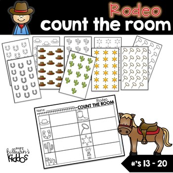 Rodeo Count the Room for Numbers 13-20