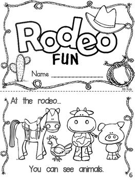 Rodeo Emergent Reader and Activities for Kindergarten