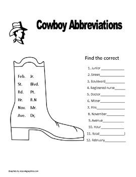 Rodeo Grammar packet