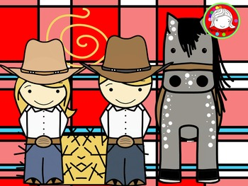 Cowboy Kids Clipart (Personal & Commercial Use)