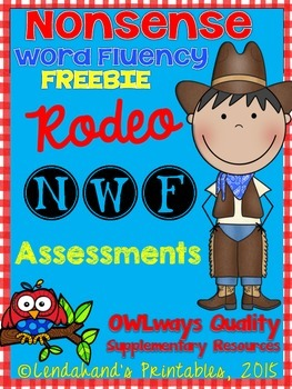 NWF - Nonsense Word Fluency Rodeo FREEBIE from Ms. Lendahand