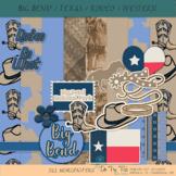 Rodeo Texas Western Big Bend Kit, Clip Art, Elements, Back