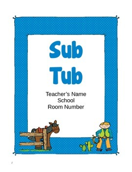 Rodeo Themed Substitute Materials