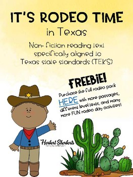 Rodeo time in Texas FREEBIE (non-fiction text)
