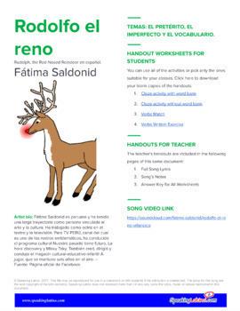 Rodolfo el reno: Spanish Activities to Practice the Preterite and Imperfect